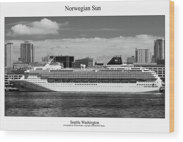 Seattle Photographs Wood Print featuring the photograph Norwegian Sun by William Jones