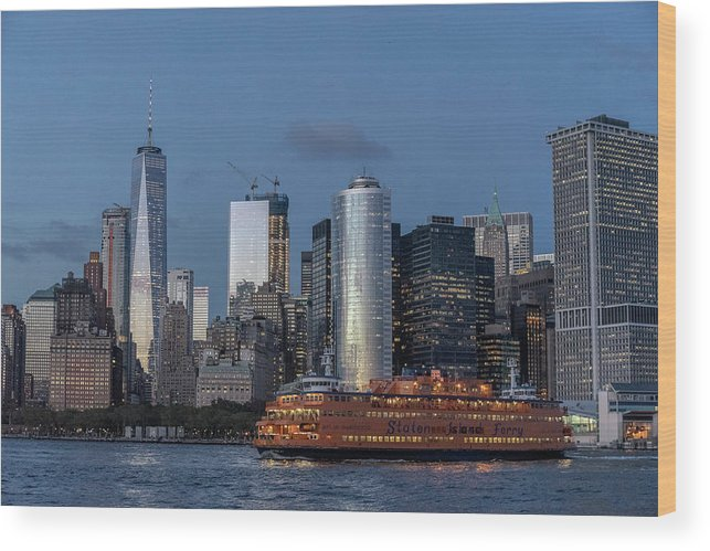 Nyc Wood Print featuring the photograph Nyc And Staten Island Ferry by Sean Sweeney