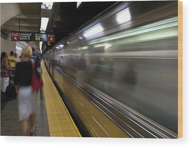 Broadway Wood Print featuring the photograph Nyc Subway by Sebastian Musial