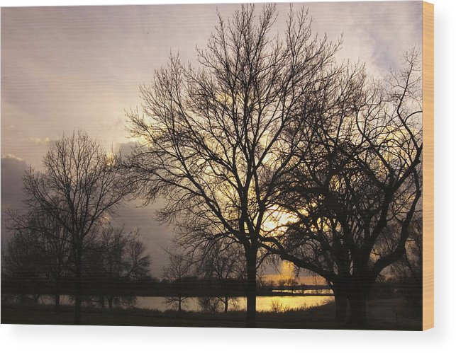 Lake Wood Print featuring the photograph Oakwood Lakes Sunset by Ralph Steinhauer