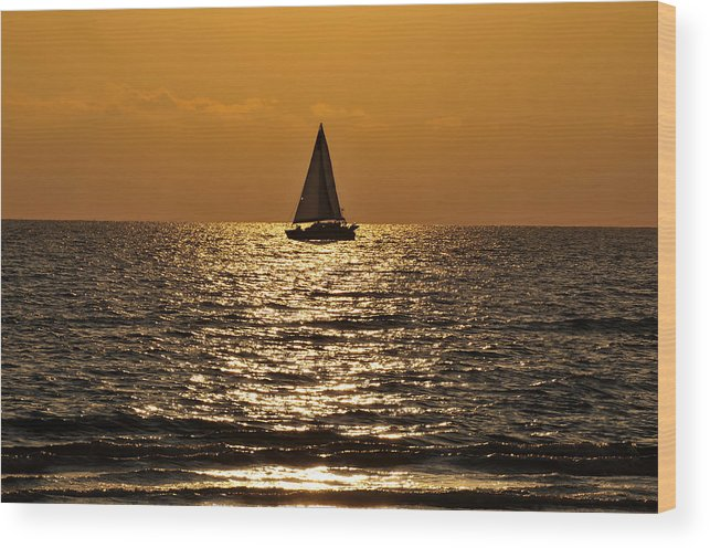 Fine Art Photography Wood Print featuring the photograph Ocean Of Time by David Lee Thompson