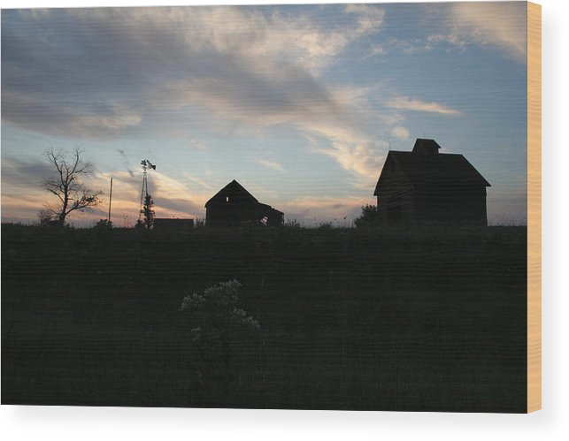 Abandon Wood Print featuring the photograph Odell Dusk by Dylan Punke