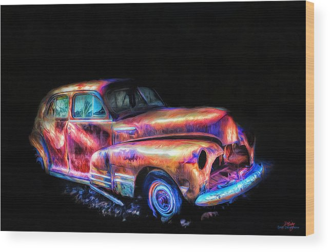 Car Wood Print featuring the photograph Old Car 2 by Donna Kirby
