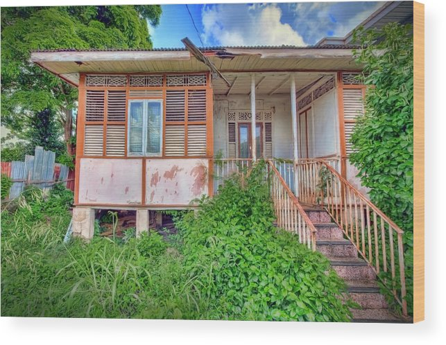 Trinidad Wood Print featuring the photograph Old Curepe House by Nadia Sanowar