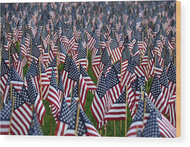 American Flag Wood Print featuring the photograph Old Glory by Kevin Myron