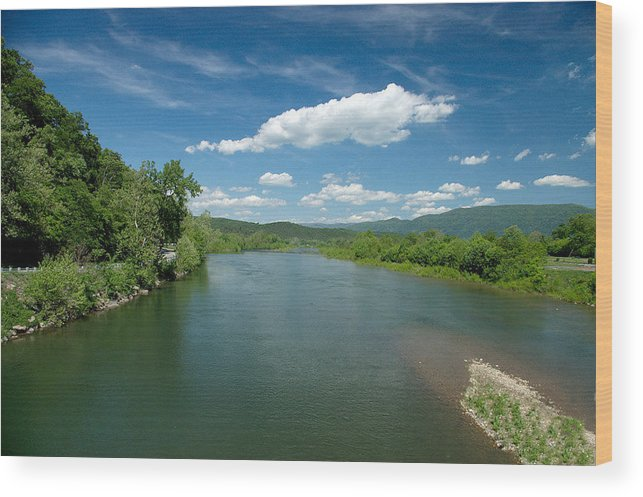 Landscape Wood Print featuring the photograph Old Man River by Steve Kenney