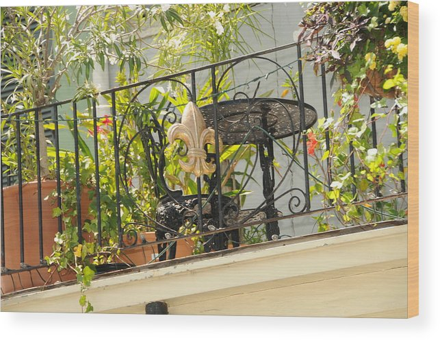 Courtyards Of New Orleans Wood Print featuring the photograph One Morning In New Orleans by Alicia Morales