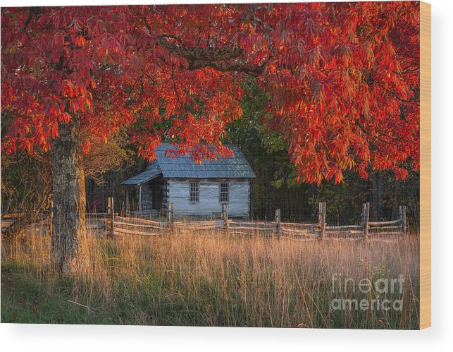Cumberland Gap National Park Wood Print featuring the photograph One Room School by Anthony Heflin