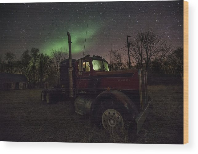 Northern Lights Wood Print featuring the photograph Optimus Borealis by Aaron J Groen