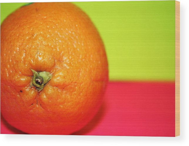 Oranges Wood Print featuring the photograph Orange by Linda Sannuti