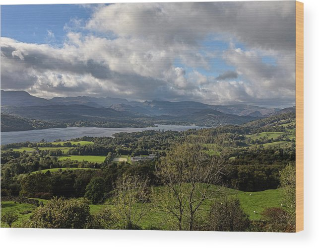 Orrest Head Wood Print featuring the photograph Orrest Head And Windermere by Graham Moore
