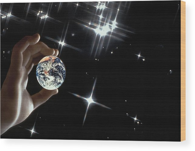 Stars Wood Print featuring the photograph Our Precious Planet by Carl Purcell