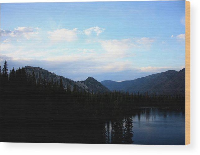 Nature Wood Print featuring the photograph Over The Lake by Joseph Peterson