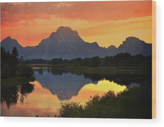 Grand Teton National Park Wood Print featuring the photograph Oxbow Sunset 13 by Marty Koch