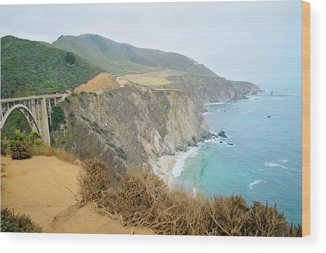 Pacific Coast Highway Wood Print featuring the photograph Pacific Coast Highway Dreams by Micah Williams
