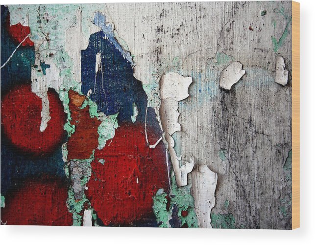 Paint Wood Print featuring the photograph Paint Chips by Jason Hochman