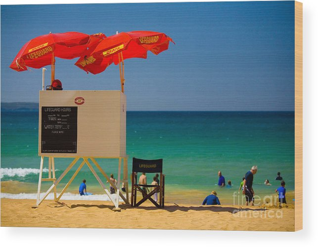 Palm Beach Sun Sea Sky Beach Umbrellas Wood Print featuring the photograph Palm Beach Dreaming by Sheila Smart Fine Art Photography