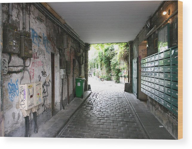 Wood Print featuring the photograph Paris - Alley 2 by Jennifer McDuffie