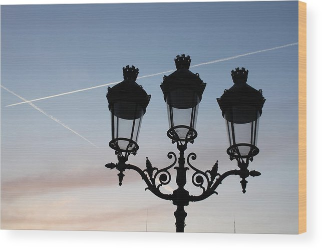 Paris Wood Print featuring the photograph Parisian Lights By Notre Dame by Jodie Bell