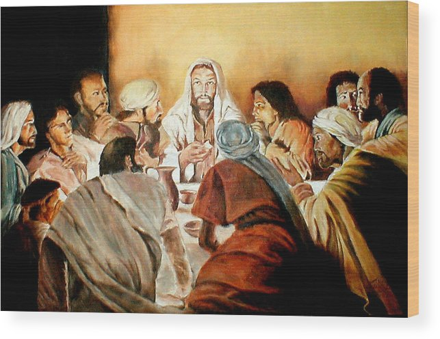 Christ Wood Print featuring the painting Passover by G Cuffia