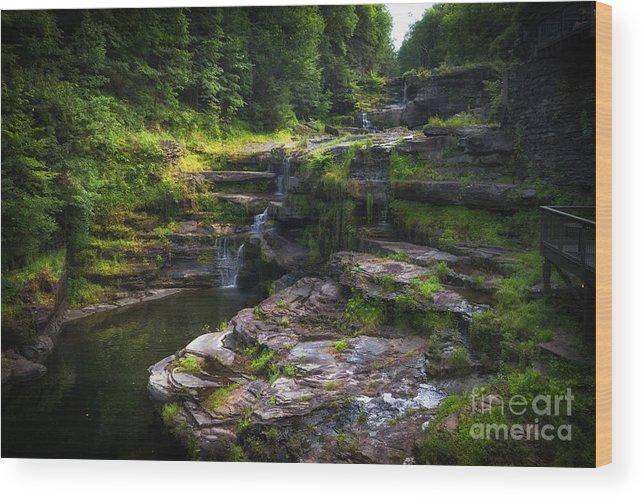 Paupack High Falls In Hawley Pa Wood Print
