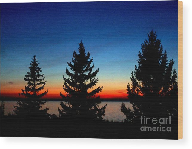 Grand Bend Wood Print featuring the photograph Peace And Quiet 3 by John Scatcherd