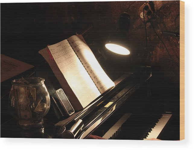Piano Wood Print featuring the photograph Piano Bar by Lauri Novak