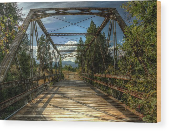 Pigeon Bridge Wood Print featuring the photograph Pigeon Bridge by Constance Puttkemery