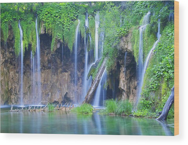 Plitvice Wood Print featuring the photograph Plitvice by Elisa Locci