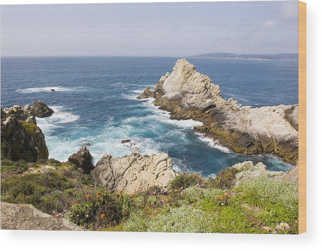 Pacific Ocean Wood Print featuring the photograph Point Lobos California by Sharon McCarthy