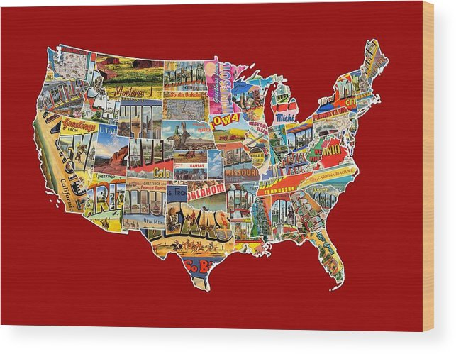Postcards Of The United States Vintage Usa Lower 48 Map Choose Your on alaska lower 48 map, usa map, sierra leone latitude and longitude map, us geographical map, oregon state map, letter size landscape us map, flat us map, connecticut longitude and latitude map,