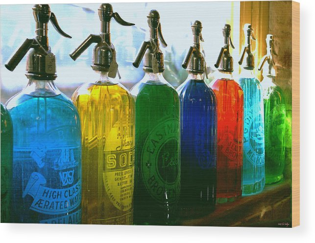 Food And Beverage Wood Print featuring the photograph Pour Me A Rainbow by Holly Kempe