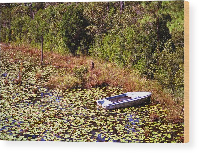 Boat Wood Print featuring the photograph Private Spot by Nicole I Hamilton