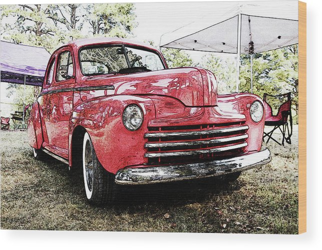 Cars Wood Print featuring the digital art Ps Color 024 by Shellie Midgette