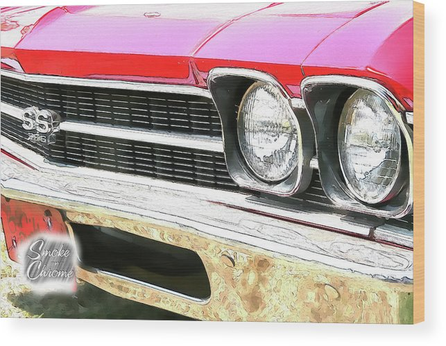 Cars Wood Print featuring the digital art Ps Color 8696 by Shellie Midgette