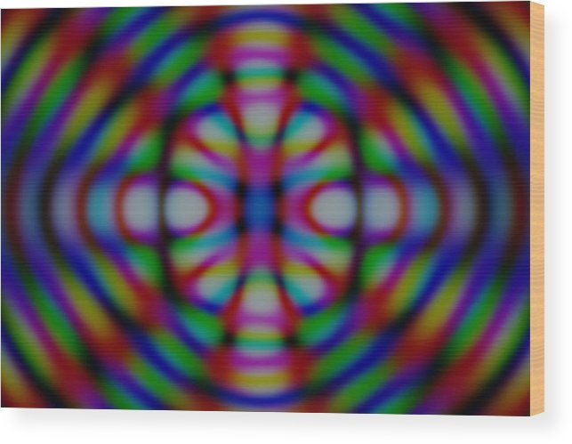Wood Print featuring the digital art Psychedelic by Andreas R Wesener