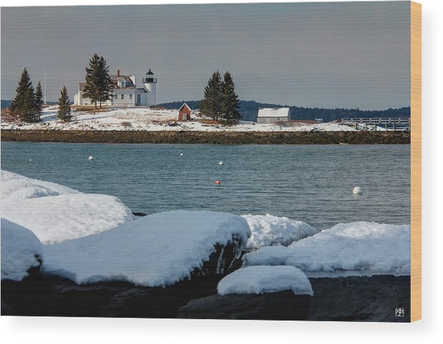 Lighthouse Wood Print featuring the photograph Pumpkin Island Lighthouse by John Meader