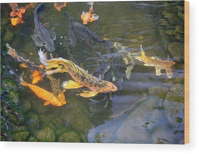 Digital Painting Wood Print featuring the painting Queen Of The Pond by Ron Morecraft