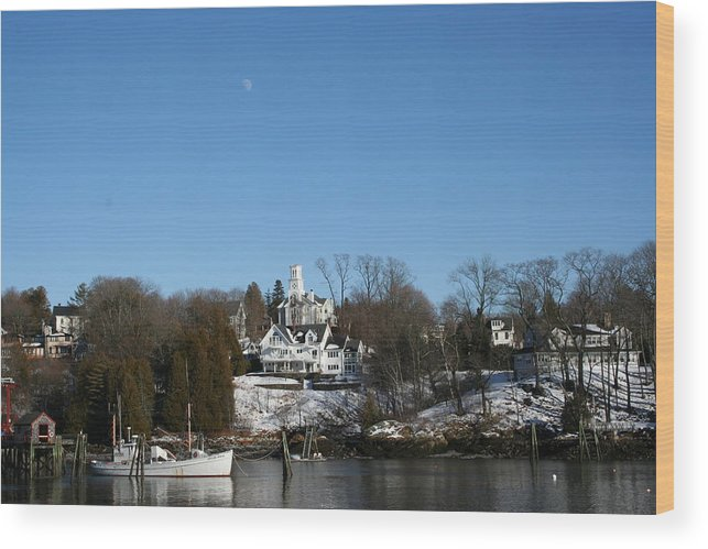 Landscape Wood Print featuring the photograph Quiet Harbor by Doug Mills