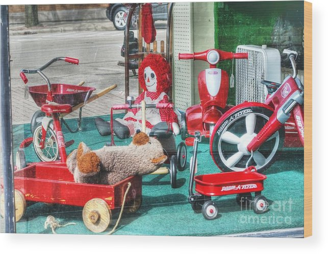 Radio Flyer Wood Print featuring the photograph Radio Flyer by David Bearden