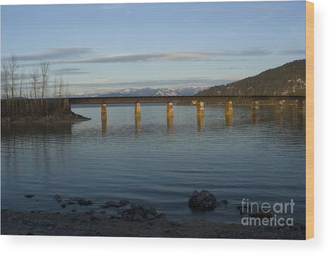 Bridge Wood Print featuring the photograph Railroad Bridge Over The Pend Oreille by Idaho Scenic Images Linda Lantzy
