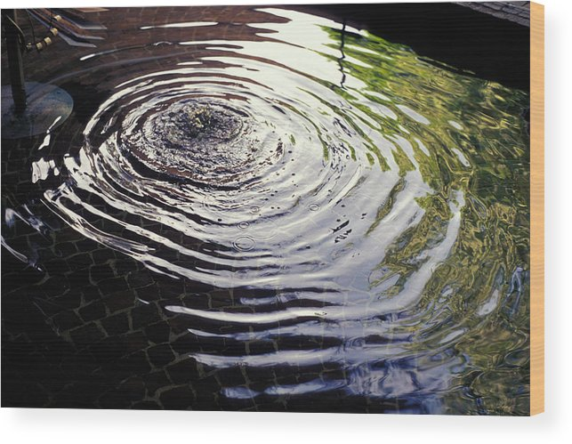Rain Wood Print featuring the photograph Rain Barrel by Carl Purcell