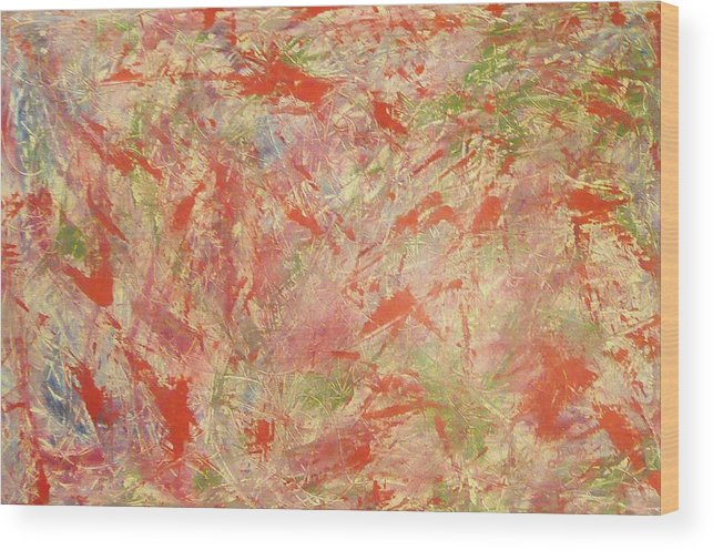 Abstract Wood Print featuring the painting Rapidity by Guillermo Mason