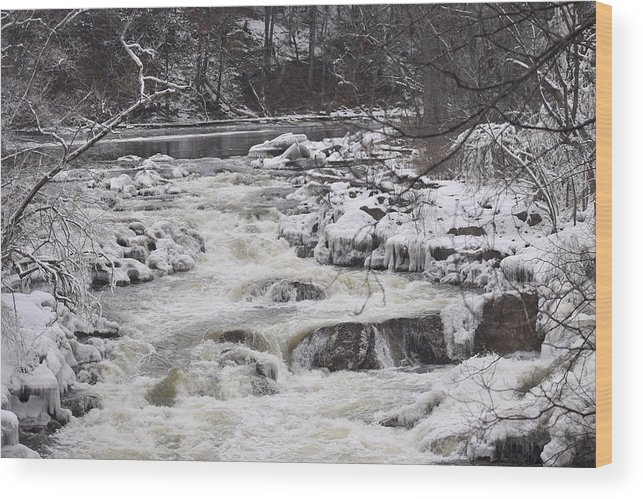 Bulls Wood Print featuring the photograph Rapids At Bull's Bridge 1 by Nina Kindred