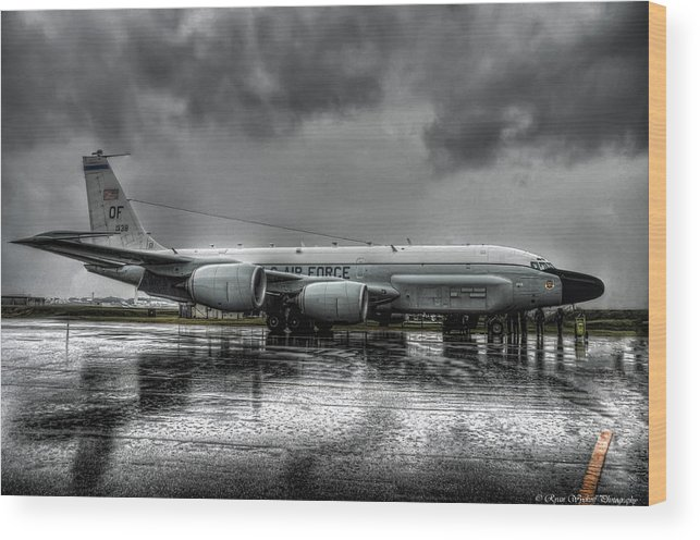 Rc-135vw Wood Print featuring the photograph Rc-135vw by Ryan Wyckoff