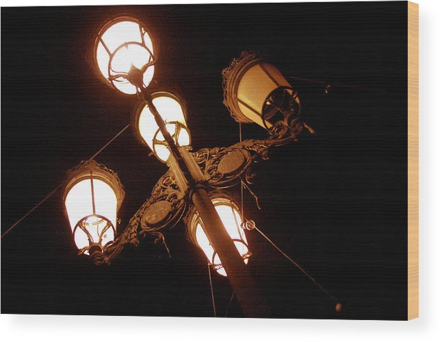 Photographer Wood Print featuring the photograph Real Lights by Jez C Self