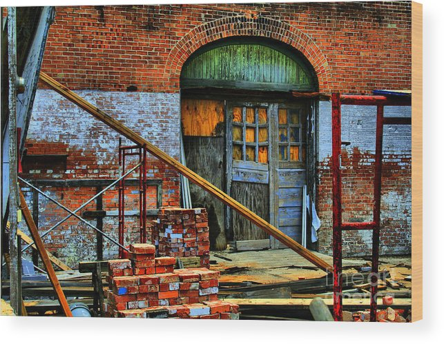 Building Wood Print featuring the photograph Rebuild by David Carter