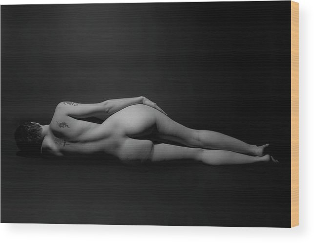 Nude Wood Print featuring the photograph Reclining Nude by Ken Norcross