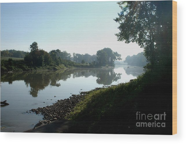 Landscape Wood Print featuring the photograph Red River Of The North by Steve Augustin