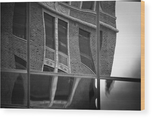 Sioux Falls Wood Print featuring the photograph Refections Of Nine IIi by Mike Oistad